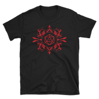 Red D20 Dice Unisex RPG Shirt - Dungeon Armory - Tabletop RPG Shirt Dungeons & Dragons T-Shirt Pathfinder RPG T-Shirt
