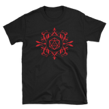 Red D20 Dice Unisex RPG Shirt - Dungeon Armory