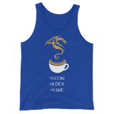 Coffee Stats Unisex RPG Tank Top - Dungeon Armory