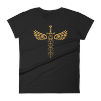 Winged Polyhedral Dice Sword Women's RPG Shirt - Dungeon Armory - Tabletop RPG Shirt Dungeons & Dragons T-Shirt Pathfinder RPG T-Shirt