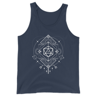 Minimalist D20 Dice Sacred Symbols Unisex RPG Tank Top - Dungeon Armory - Tabletop RPG Shirt Dungeons & Dragons T-Shirt Pathfinder RPG T-Shirt