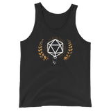 Vintage Polyhedral D20 Dice Unisex Tank Top - Dungeon Armory - Tabletop RPG Shirt Dungeons & Dragons T-Shirt Pathfinder RPG T-Shirt