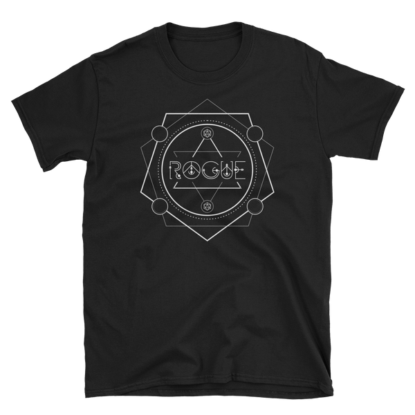 Rogue Minimalist Emblem Unisex RPG Shirt - Dungeon Armory - Tabletop RPG Shirt Dungeons & Dragons T-Shirt Pathfinder RPG T-Shirt
