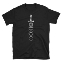 Dungeons and Dragons Shirt - Minimalist Dice Sword Magic Item White Unisex RPG Shirt - DnD Shirts Dungeon Armory