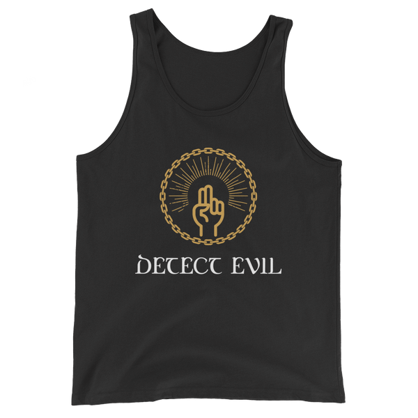 Detect Evil Spell Unisex RPG Tank Top - Dungeon Armory - Tabletop RPG Shirt Dungeons & Dragons T-Shirt Pathfinder RPG T-Shirt