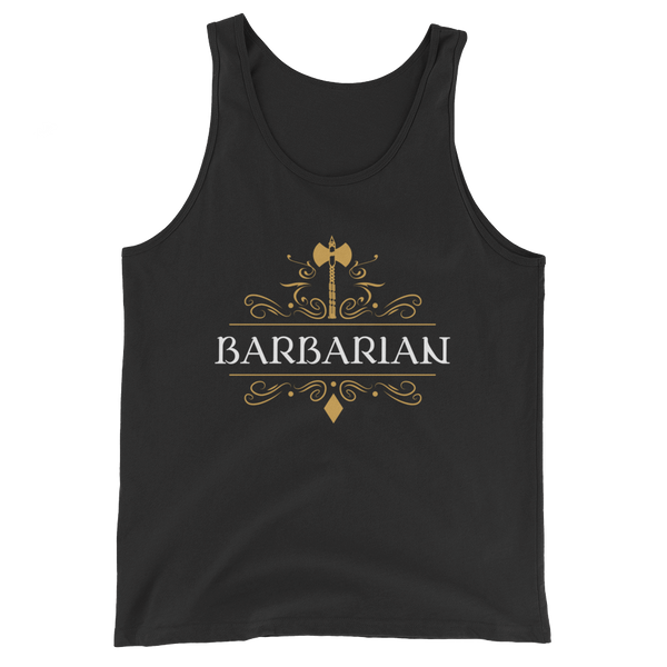 Barbarians Emblem Unisex RPG Tank Top - Dungeon Armory - Tabletop RPG Shirt Dungeons & Dragons T-Shirt Pathfinder RPG T-Shirt