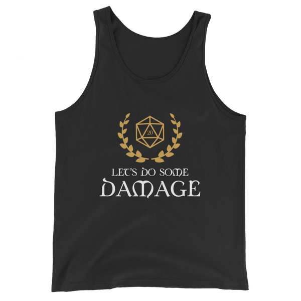 Let's Do Some Damage Unisex RPG Tank Top - Dungeon Armory - Tabletop RPG Shirt Dungeons & Dragons T-Shirt Pathfinder RPG T-Shirt