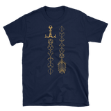 Polyhedral Dice Sword and Arrow Unisex RPG Shirt - Dungeon Armory
