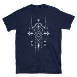D20 Dice with Geometric Symbols RPG Shirt - Dungeon Armory - Tabletop RPG Shirt Dungeons & Dragons T-Shirt Pathfinder RPG T-Shirt