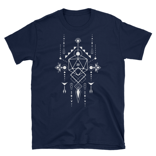 Dungeons and Dragons Shirt - D20 Dice with Geometric Symbols RPG Shirt - DnD Shirts Dungeon Armory