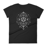Dungeons and Dragons Shirt - Minimalist D20 Dice Sacred Symbols Women's RPG Shirt - DnD Shirts Dungeon Armory