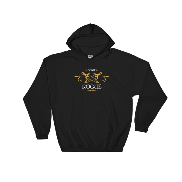 Gone Rogue Hooded Sweatshirt - Dungeon Armory - Tabletop RPG Shirt Dungeons & Dragons T-Shirt Pathfinder RPG T-Shirt