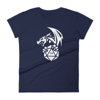 Dragon with D20 Dice Women's RPG Shirt - Dungeon Armory - Tabletop RPG Shirt Dungeons & Dragons T-Shirt Pathfinder RPG T-Shirt