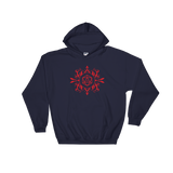 Red D20 Dice Hooded Sweatshirt - Dungeon Armory