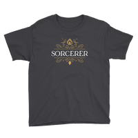 Sorcerer Youth Short Sleeve T-Shirt - Dungeon Armory - Tabletop RPG Shirt Dungeons & Dragons T-Shirt Pathfinder RPG T-Shirt