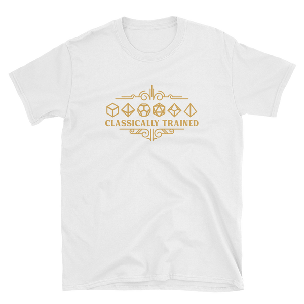 Classically Trained Polyhedral Dice Set Unisex RPG Shirt