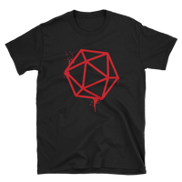 Dungeons and Dragons Shirt - D20 Dice Red Spray Paint Unisex RPG Shirt - DnD Shirts Dungeon Armory