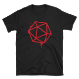 D20 Dice Red Spray Paint Unisex RPG Shirt - Dungeon Armory - Tabletop RPG Shirt Dungeons & Dragons T-Shirt Pathfinder RPG T-Shirt
