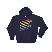 Rainbow Dice Set Unisex Hoodie - Dungeon Armory - Tabletop RPG Shirt Dungeons & Dragons T-Shirt Pathfinder RPG T-Shirt