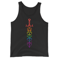 Dungeons and Dragons Shirt - Rainbow Dice Sword Unisex RPG Tank Top - DnD Shirts Dungeon Armory