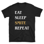 Eat Sleep Smite Repeat Paladin Unisex RPG Shirt - Dungeon Armory - Tabletop RPG Shirt Dungeons & Dragons T-Shirt Pathfinder RPG T-Shirt