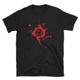 D20 Dice Paint Splatter Unisex RPG Shirt - Dungeon Armory - Tabletop RPG Shirt Dungeons & Dragons T-Shirt Pathfinder RPG T-Shirt