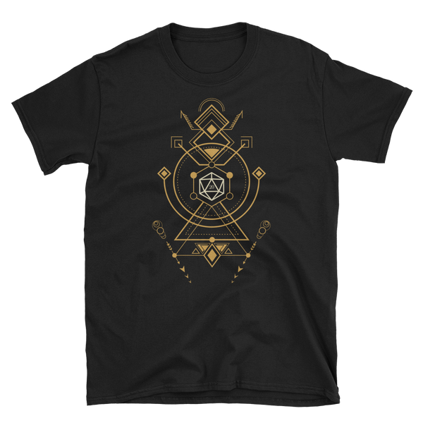 Esoteric Polyhedral D20 Dice Unisex RPG T-Shirt