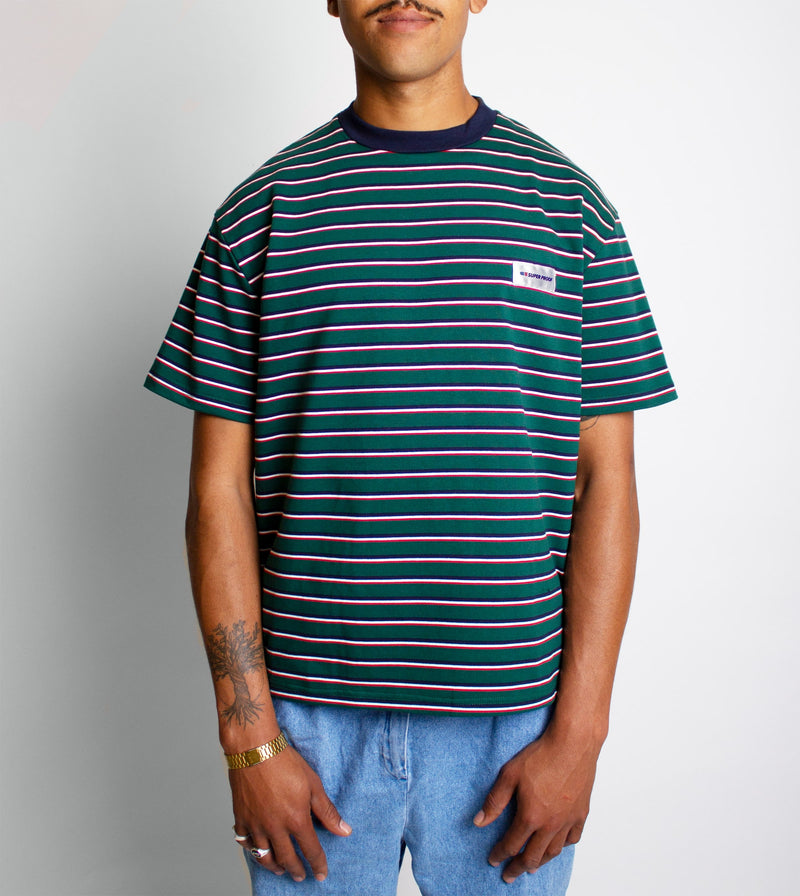 Stripe Tee - Front on model