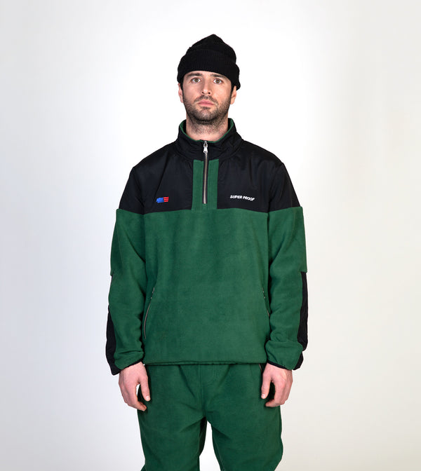 Fleece 1/4 Zip Jacket - Green