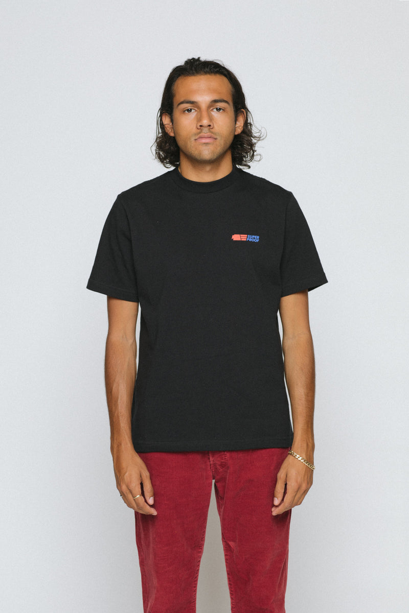 superproof staple tee black