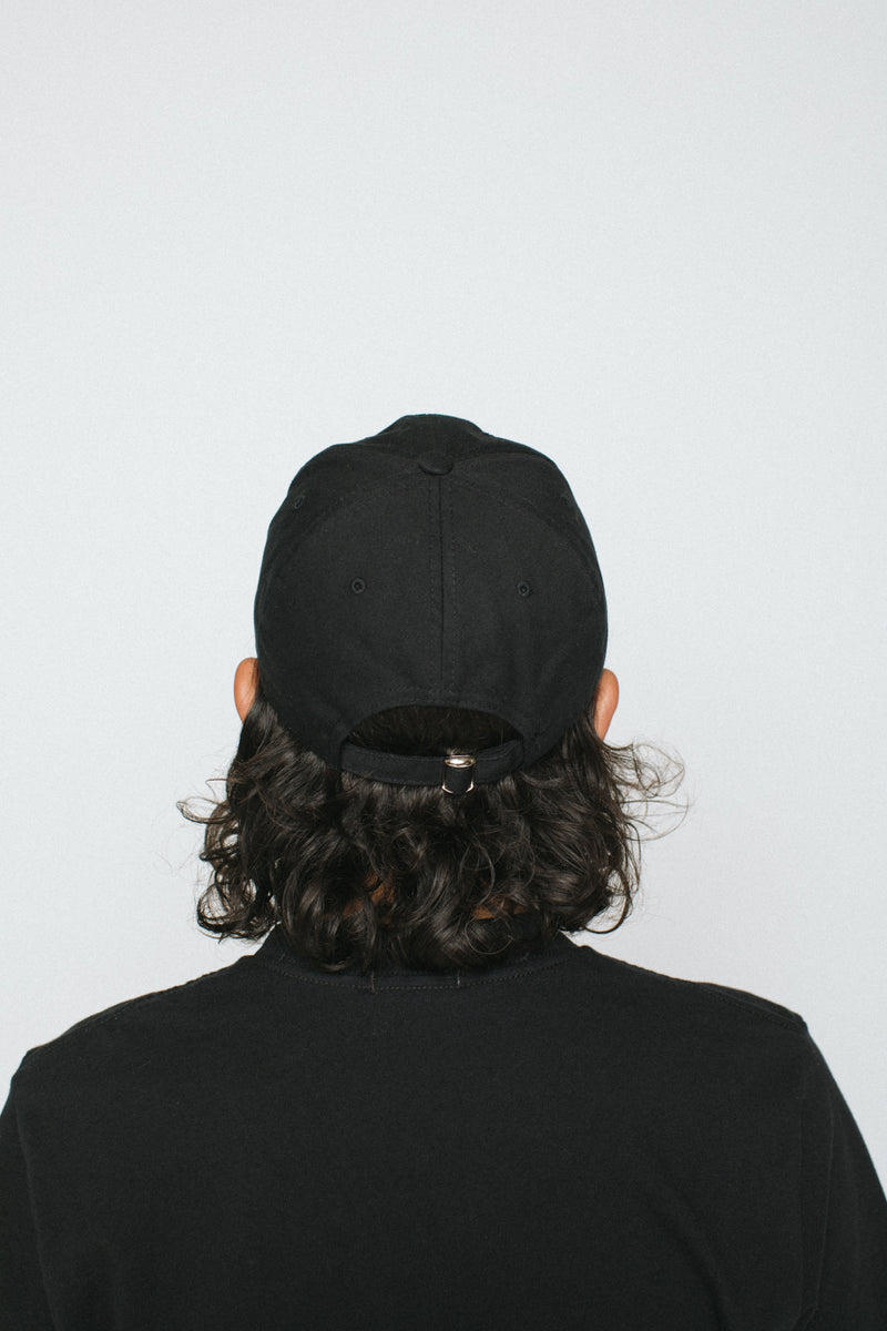 Unstructured 6 Panel Cap - Black
