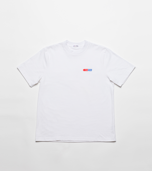 superproof staple tee white