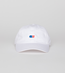 Unstructured 6 Panel Cap - White