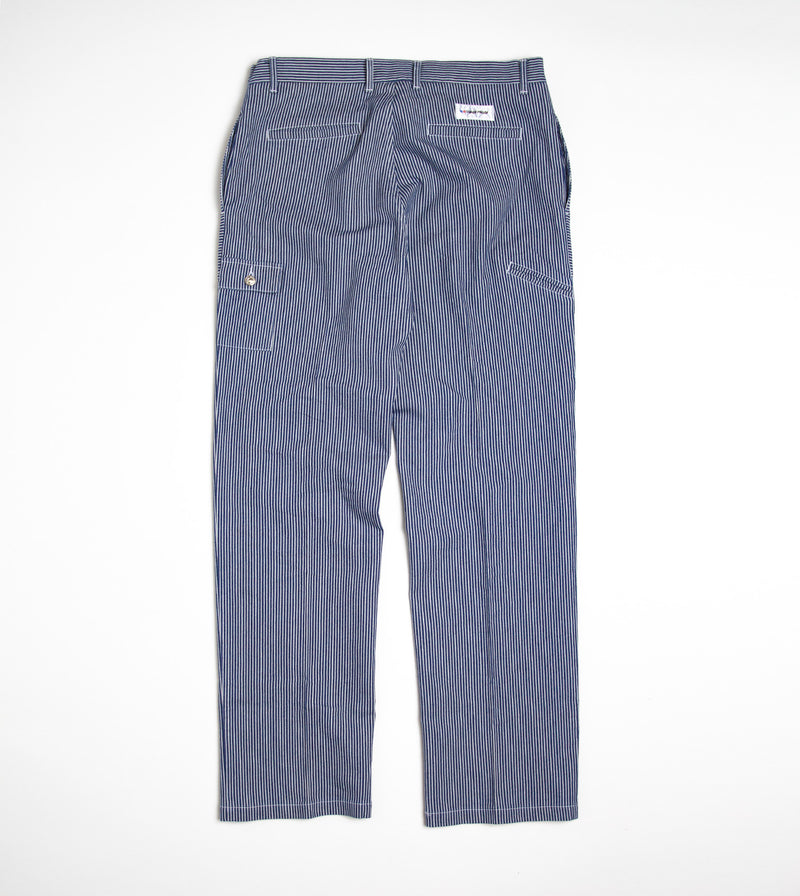 Canvas Worker Pant - Blue Stripe
