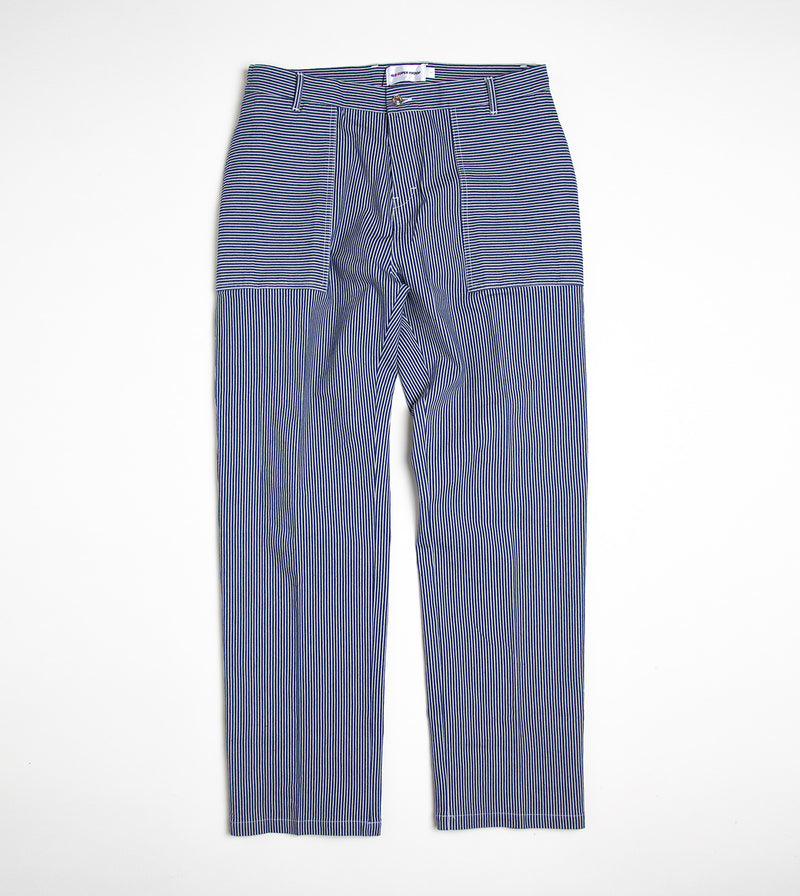 striped worker pant front