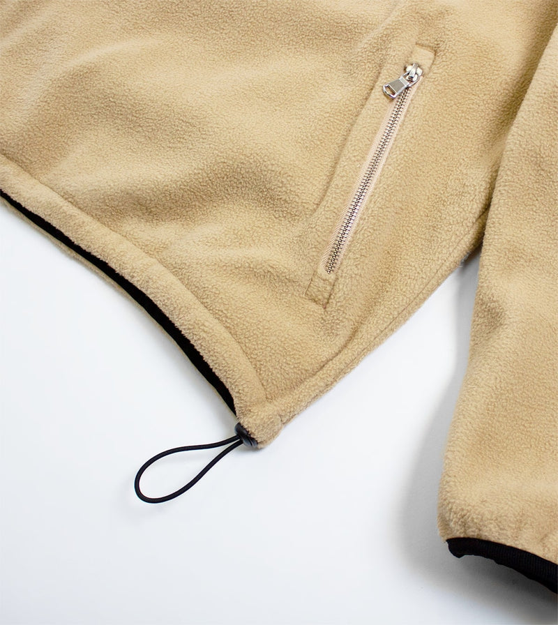 Fleece 1/4 Zip Jacket - Beige