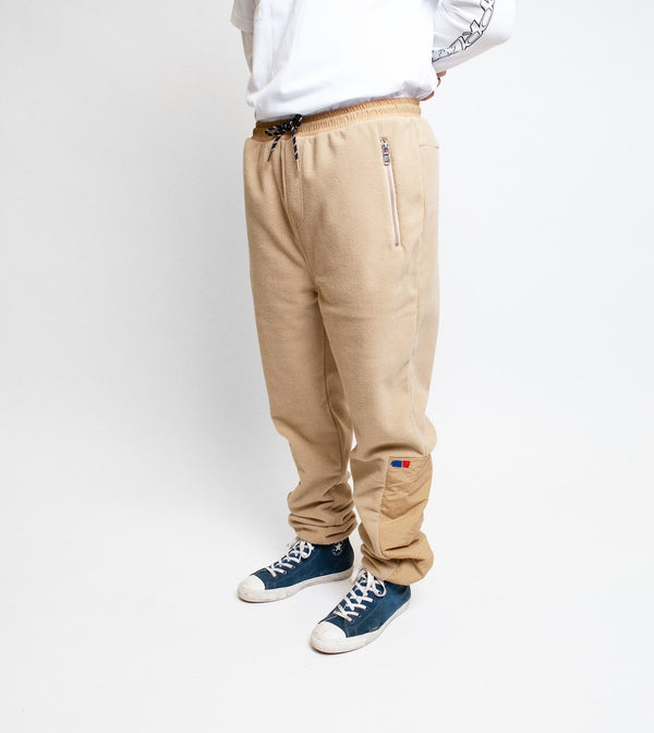 Fleece Track Pant - Beige