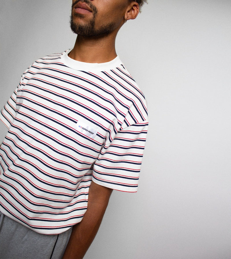 Stripe Tee - White