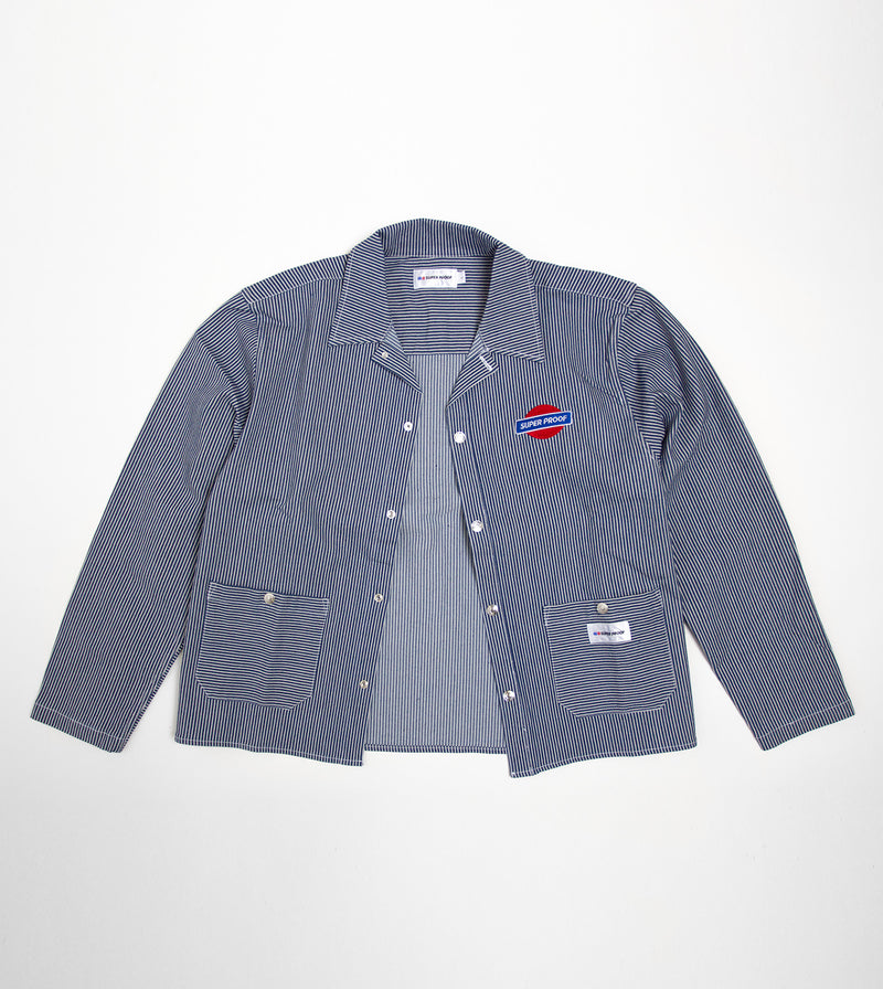 canvas worker jacket front open