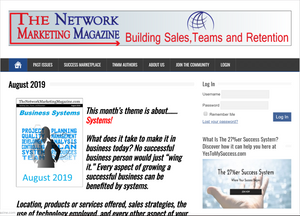 The Network Marketing Magazine - Annual Subscription + 27%er Success System