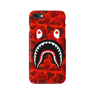 Red Camo BATHING APE Case