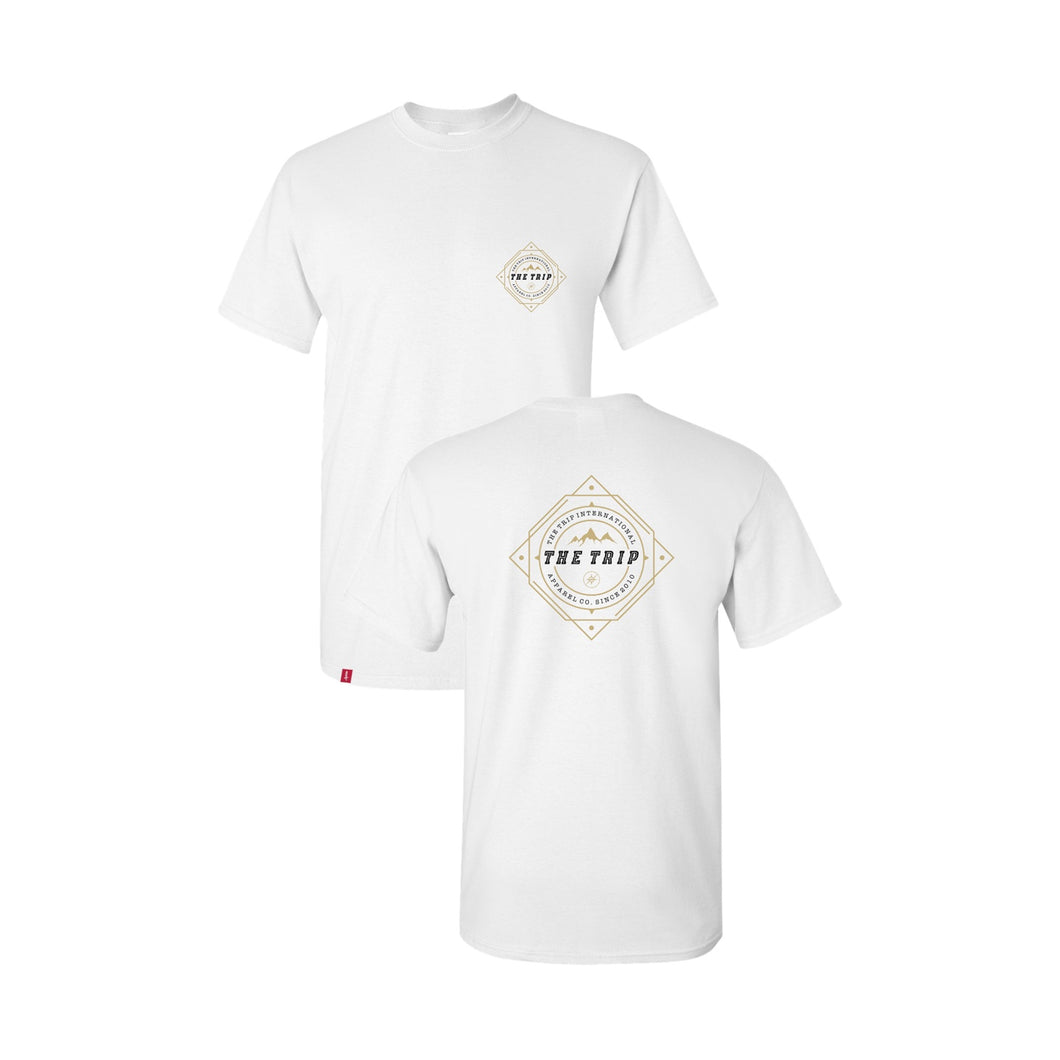 THE TRIP WHITE COMPASS TEE