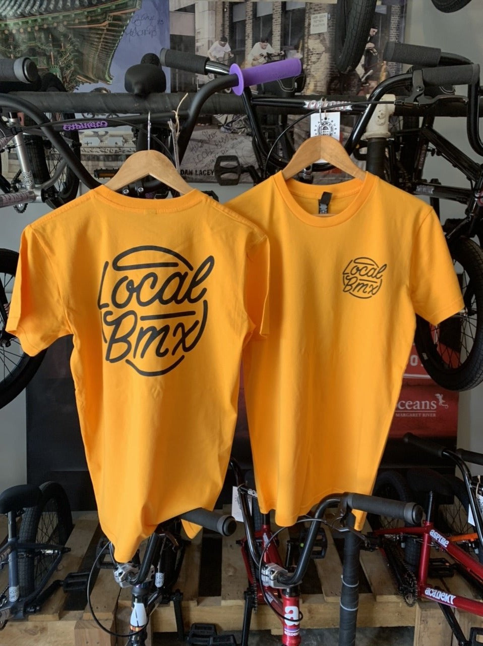 LOCAL THROWBACK TEE GOLD