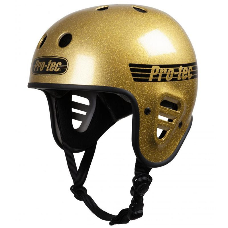 PROTEC FULL CUT HELMET GOLD FLAKE XL