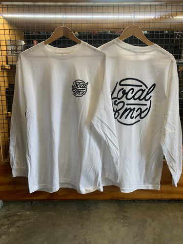 LOCAL THROWBACK WHITE LONGSLEEVE TEE