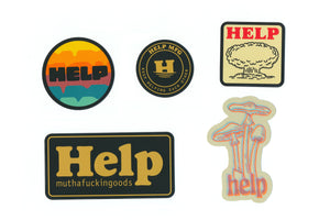HELP STICKER SET
