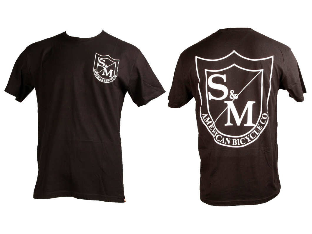 S&M TWO SHIELD TEE
