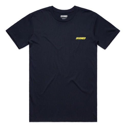 DOOMED NO LOGO TEE NAVY