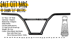 "T1 ELF SALT CITY BARS 8.2"" - GLOSS CLEAR RAW"