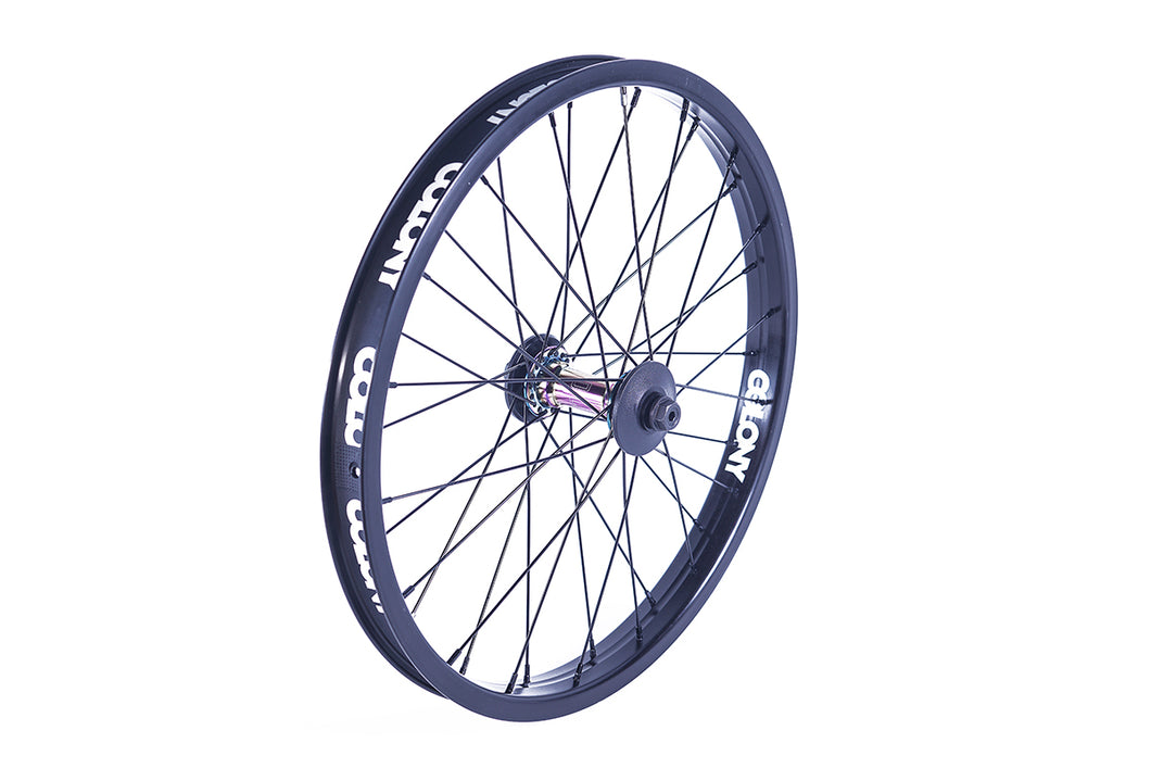 Colony Pintour Front Wheel Black/Rainbow